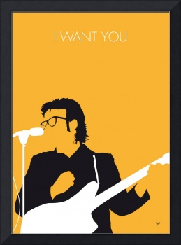 No067 MY ELVIS COSTELLO Minimal Music poster