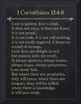 1 Corinthians 13:4-8- Bible Verse Wall Art Collect
