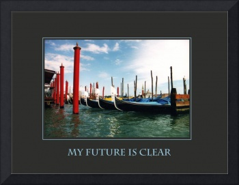 My Future is Clear Affirmation Poster