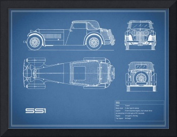 Jaguar SS1 Blueprint