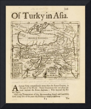 The Turkish Empire in Asia [shows Cyprus] 1687 Rob