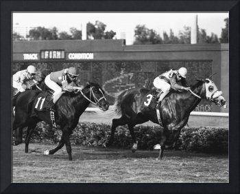 Small Virtue Horse Racing Vintage