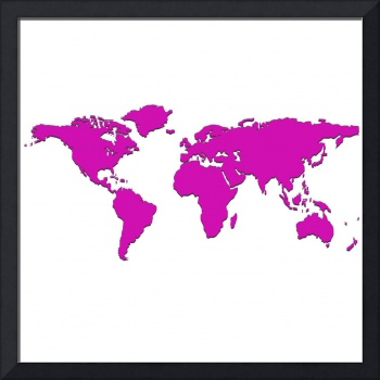 purple world map