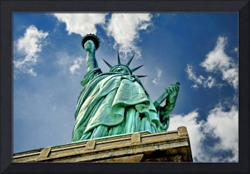Staring up at the Statue of Liberty
