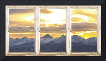 Rocky Mountain Rustic Farm House Window View