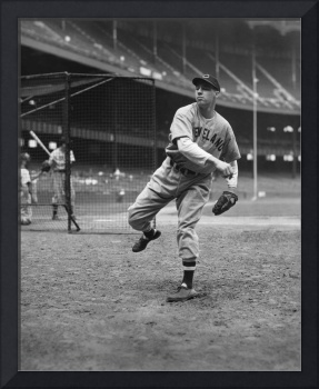 Bob Feller pitching in warm up