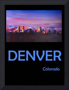Retro Travel Poster Denver Colorado