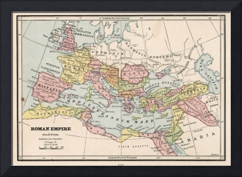 Vintage Map of The Roman Empire (1882)