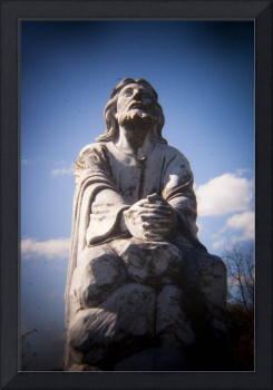 Cemetery Statue of Jesus taken with Holga Lens