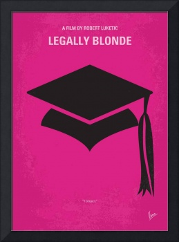 No301 My Legally Blonde minimal movie poster