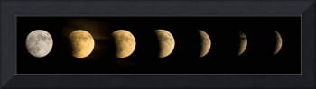 A composite of seven images shows the full moon at