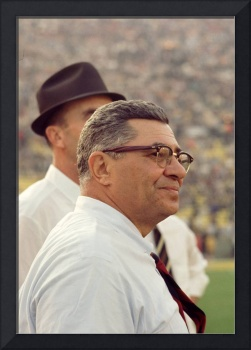 Vince Lombardi Surveying the Field