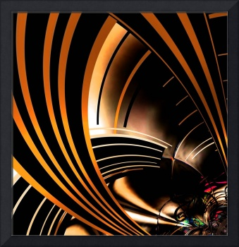 Abstract Art Gold Space 3