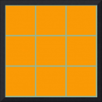 Orange Window 122 Canvas Contemporary Modern