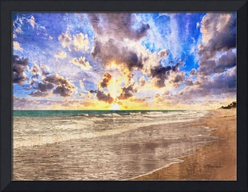 Seascape Painting Treasure Coast Florida B7
