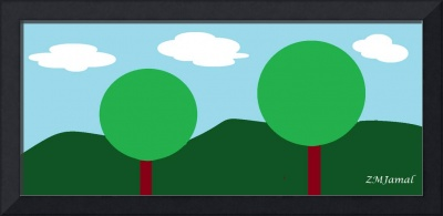 Tree Scape Cartoon