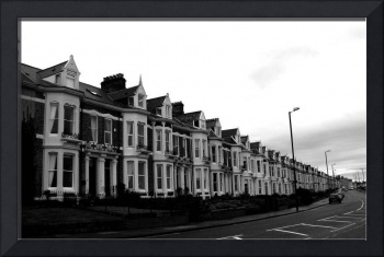 A street of houses in Tynemouth