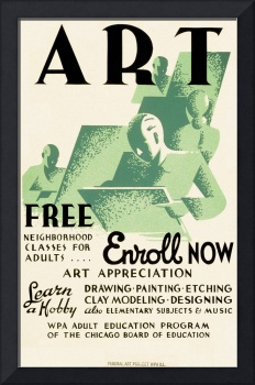 Art, Free Neighborhood Classes for Adults (1937)
