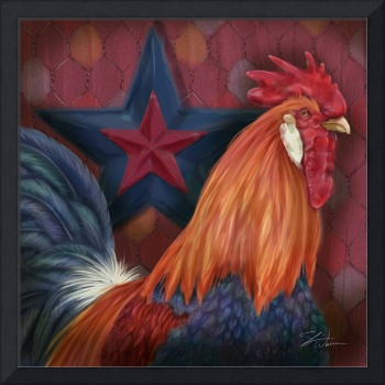 Blue Star Rooster