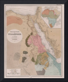 Vintage Map of Egypt (1856)