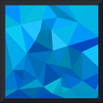 Medium Teal Blue Abstract Low Polygon Background