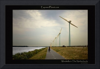 Cyclist and the Dutch Windmills of the new age