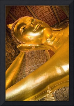 Reclining Buddha At Wat Pho, Low Angle View Bangk