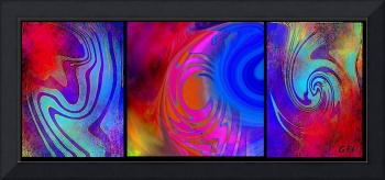 DIGITAL ABSTRACT ORIGINAL FINE ART - WARP 3