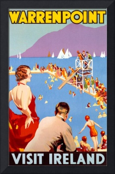 Warrenpoint, Ireland Vintage Travel Poster