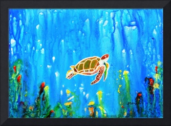 Underwater Magic 5-Happy Turtle excellent gift for