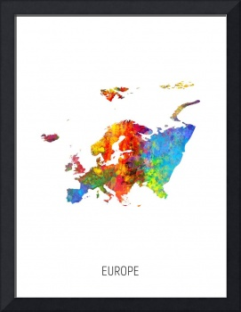Europe Watercolor Map