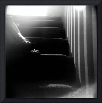 holga - sin's feet on the stairs