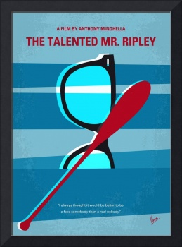 No694 My The Talented Mr Ripley minimal movie post