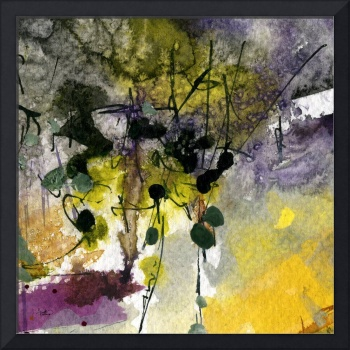 Moss and Earth Intuitive Abstract by Ginette