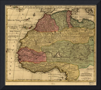 Vintage Map of West Africa (1742)