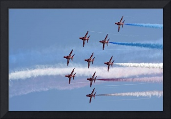 Red Arrows aerobatic team 6