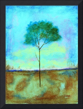 Individual Lone Skinny Tree Abstract Landscape Art