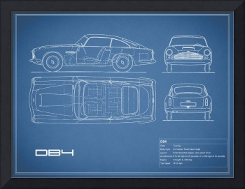 Aston DB4 Blueprint