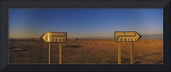 Signboards on a landscape