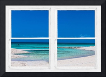 Tropical Blue Ocean Window View