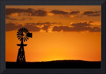 Windmill Sunset: Texas Hill Country