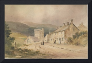Landscape with cottage and church, 1831, by Conrad