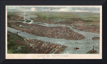 Vintage Pictorial Map of New York City (1868)