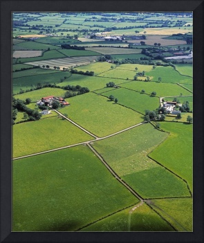 County Fermanagh, Ireland, Aerial View Of Fields