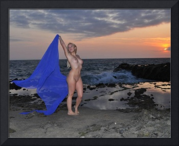 Jess nude at sunset