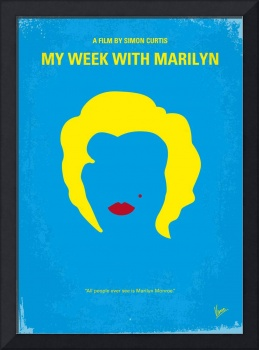 No284 My week with Marilyn minimal movie poster