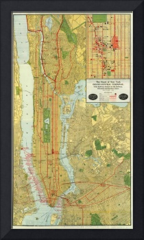 Vintage Map of New York City (1918)