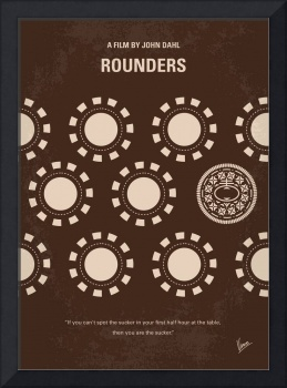 No503 My Rounders minimal movie poster