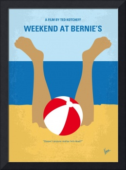 No765 My Weekend at Bernies minimal movie poster