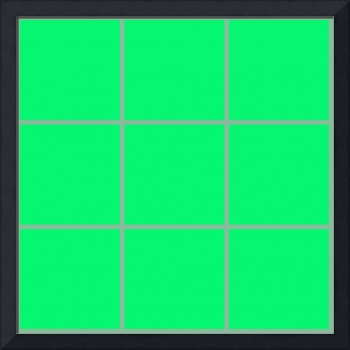 Green Window 22 Canvas Contemporary Modern
